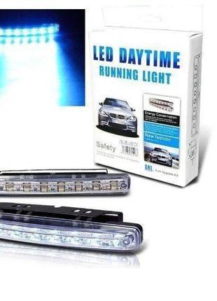 Универсальные светодиодные дневные ходовые огни DRL DR2-030, 8...