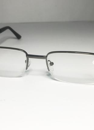 Мужские очки для зрения полуободковые -2.50 PD 62-64, черные