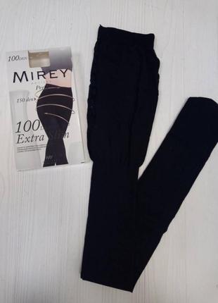 Extraslim 100 den mirey черные утягивающие колготки микрофибра