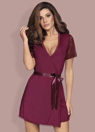Miamor robe obsessive бордовый марсала халат на поясе