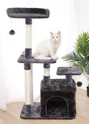 Когтеточка-домик для кота Taotaopets 045513 Grey дряпка 63*18*...