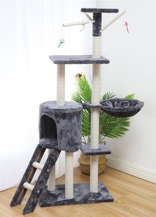 Когтеточка-домик для кота Taotaopets 047706 Grey дряпка 140*54...