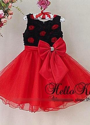 Нарядное пышное платье с розами
