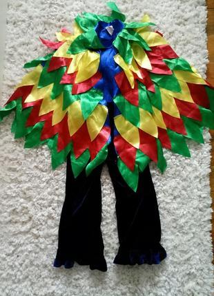 Карнавальный, новогодний костюм жар-птицы, попугая, фазана