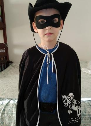 Карнавальный костюм детский зорро, ковбой на 4-9 лет