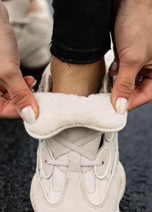 Шикарные зимние женские кроссовки adidas yeezy boost 500 winte...