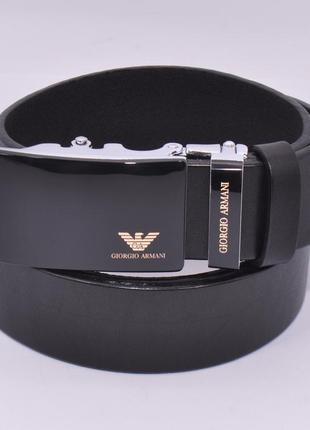 Кожаный ремень автомат мужской 8006-317-g черный, коричневый, ...