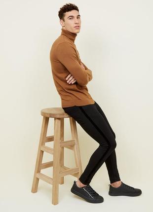 Джинсы мужские стрейчевые черные скинни new look super skinny