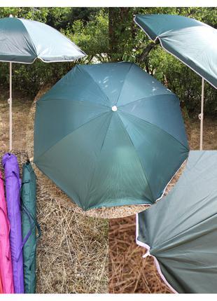 Пляжный зонт садовый 1,8 м с наклоном и защитой от ультрафиоле...