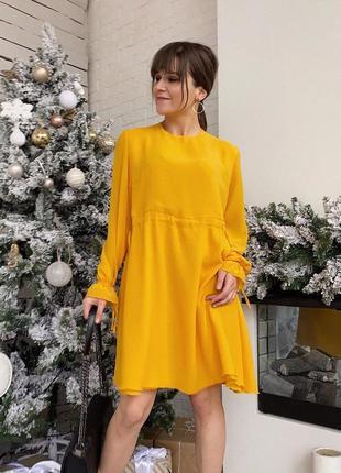 2 цвета! желтое шифоновое платье