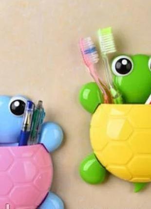"""Держатель для зубных щеток и пасты """"Черепашка"""""""