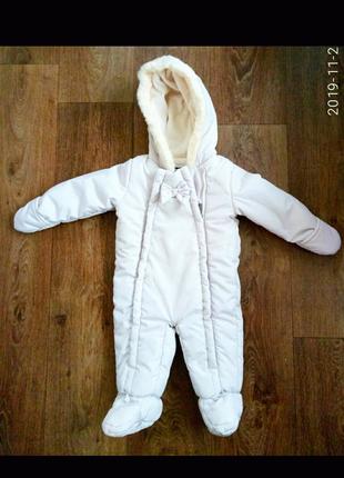 Детский зимний комбинезон 6-9мес.