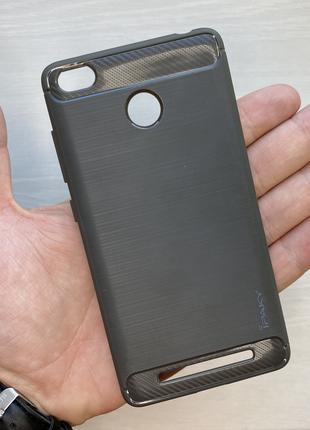 Чехол силиконовый черный на для Xiaomi 3 Pro