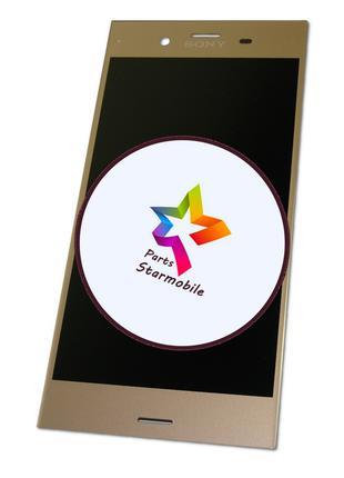 Дисплей Sony G8342 Xperia XZ1 + сенсор золотой (оригинальные к...