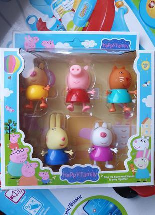 Набор фигурок свинка пеппа и ее друзья