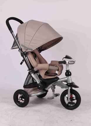 Детский трехколесный велосипед Azimut Crosser T-350 серый