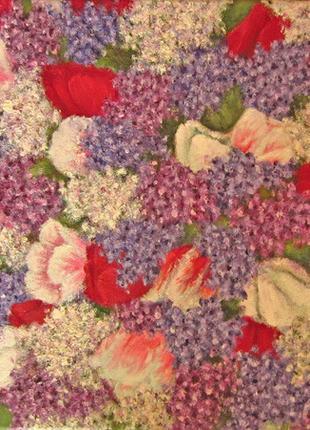 """Картина """"Весенние цветы"""", 40х40, масло, холст"""
