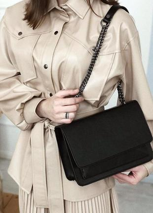 Классический черный клатч сумка