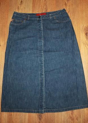 Юбка джинсовая миди с карманами  french connecnion 40-42р.