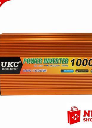 Инвертор преобразователь UKC POWER с 12 на 220 вольт 1000W