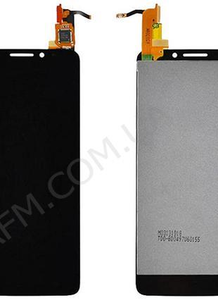 Дисплей (LCD) Alcatel 6040D One Touch Idol X с сенсором чёрный*