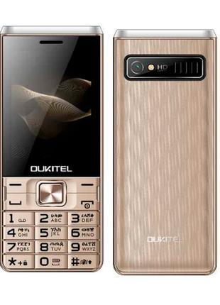 Мобильный телефон с хорошей батареей OUKITEL L2801 gold