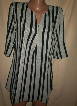 Вискозная блуза-туника  one two luxzuz р-р36