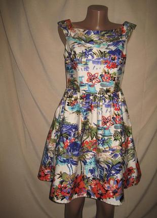 Платье со спущенными плечами new look р-р12
