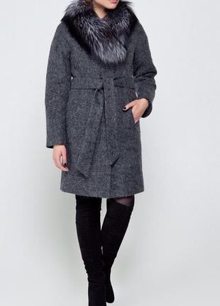Пальто зима+ натур. мех