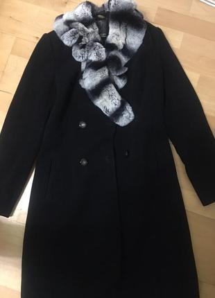 Пальто демисезон + натуральный мех кролика