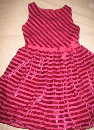 Красивое платье спенсер 5-6л,