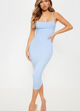 Ликвидация товара 🔥   голубое миди платье