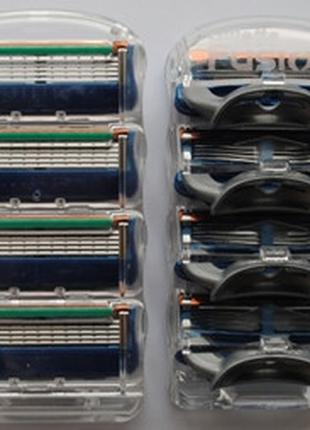 Лезвия Бритвы Кассеты для Станка Gillette Fusion-4 без упаковки