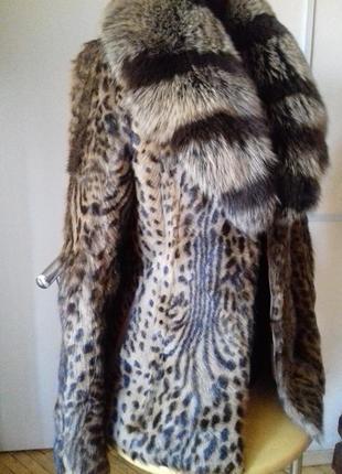 Шуба камышовый кот)натуральная.