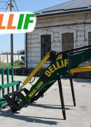 Погрузчик Dellif Maxi 1000 с паллетными вилами на трактор МТЗ,ЮМЗ