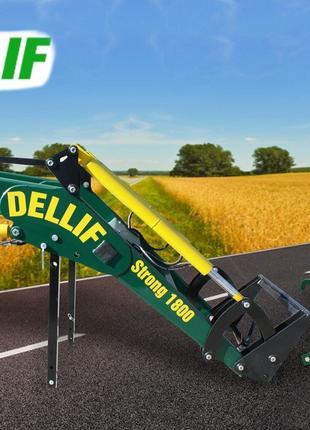 Погрузчик фронтальный Dellif Strong1800 с сенажными вилами на МТЗ