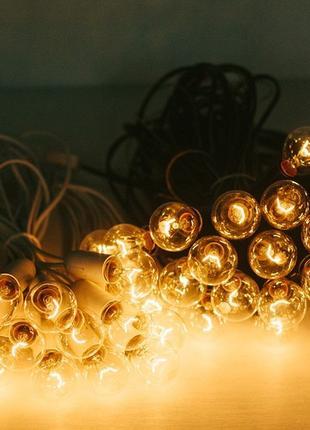 Уличная ретро гирлянда с лампочками накаливания