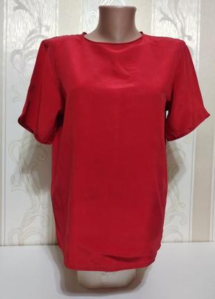 Базовая шелковая блуза, 100% шелк.