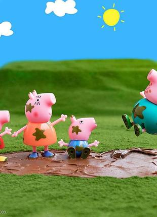 Игровой набор, свинка пеппа семейка четыре фигурки, оригнал, н...