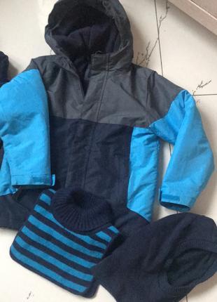Куртка зимняя 3-в-1 для мальчика 5/6 лет (120-130см)