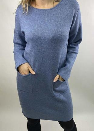 Акция! стильное платье туника с люрексом, 50-52, польша