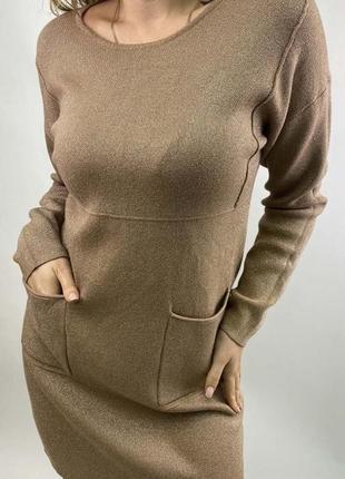 Акция!стильное платье туника с люрексом, л-ххл, есть цвета,польша