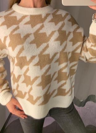 Качественный свитер с шерстью пуловер кофта amisu есть размеры
