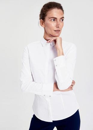 Белая женская рубашка lc waikiki / лс вайкики на пуговицах с к...
