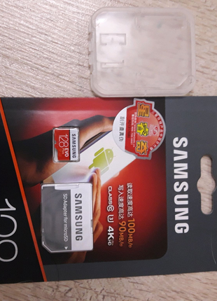 Карта памяти Samsung Evo plus 128 GB