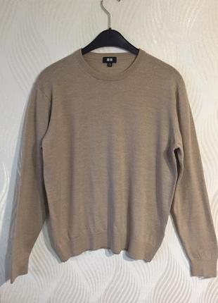 Мужской шерстяной свитер uniqlo термобелье