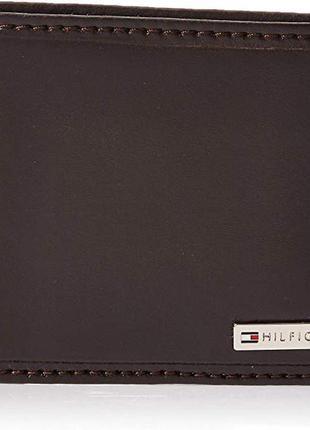 Кожаный мужской кошелек tommy hilfiger бумажник оригинал из сша