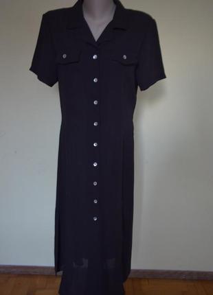 Шикарное стильное английское платье на пуговицах