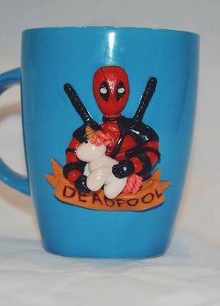 Чашка з детпулом, Deadpool, чашка с декором. подарок ребенку