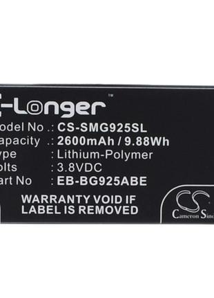 Аккумулятор для Samsung Galaxy S6 Edge TD-LTE 2600 mAh Cameron...